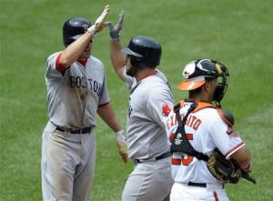 Red Sox hit 3 HRs in 6-5 win over Orioles