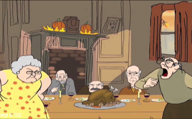 Larry David Would Like to Wish You a (Sort of) Happy Thanksgiving