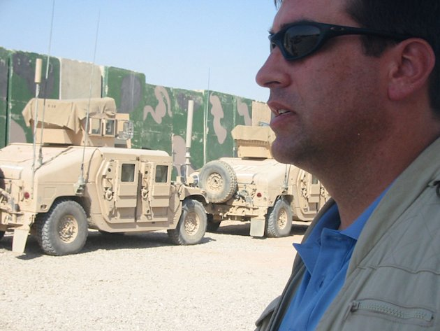 Rob Riggle corresponding for The Daily Show in Iraq.