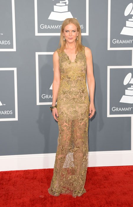 Actress Nicole Kidman arrives at the 55th Annual GRAMMY Awards at Staples Center on February 10, 2013 in Los Angeles, California. (Photo by Jason Merritt/Getty Images)
