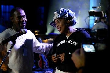 Director Antoine Fuqua and Macy Gray of Sony Pictures Classics' Lightning in a Bottle