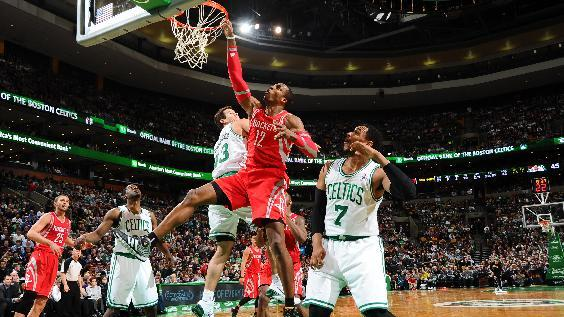 Howard has 32 and 10, Rockets top Celtics 104-92