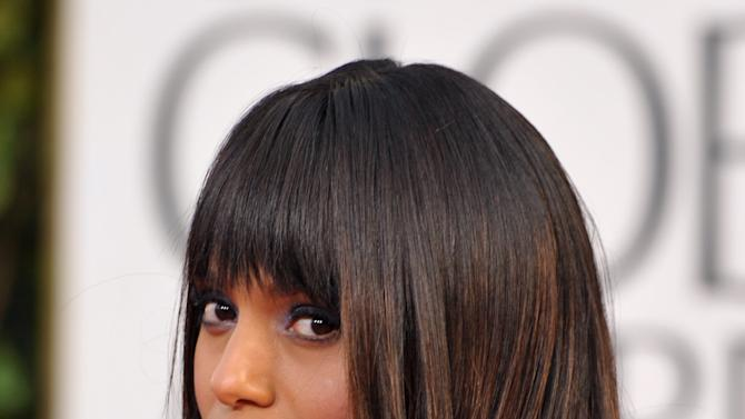 Actress Kerry Washington arrives at the 70th Annual Golden Globe Awards at the Beverly Hilton Hotel on Sunday Jan. 13, 2013, in Beverly Hills, Calif. (Photo by John Shearer/Invision/AP)