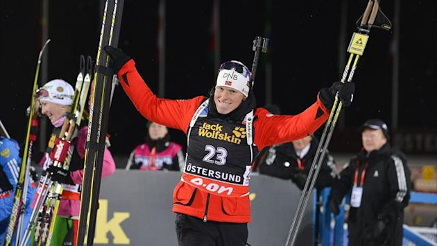 Tora Berger easily won the first IBU Biathlon World Cup race of the season by claiming he 15km individual in Oestersund, Sweden.