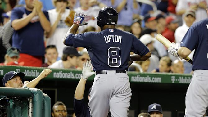 Justin Upton's HR lifts Braves past Nationals 3-2