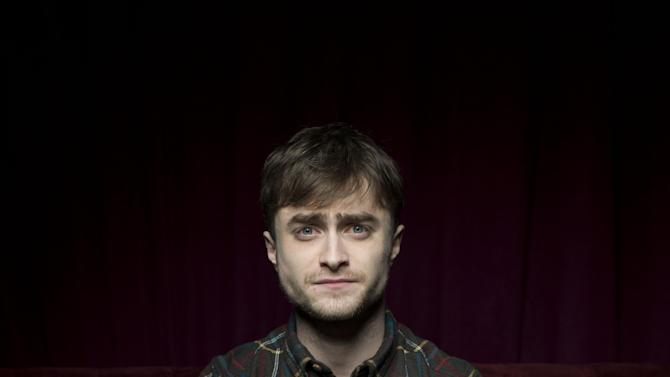 "Daniel Radcliffe from the film ""Kill Your Darlings,"" poses for a portrait during the 2013 Sundance Film Festival at the Fender Music Lodge on Saturday, Jan. 19, 2013 in Park City, Utah. (Photo by Victoria Will/Invision/AP Images)"