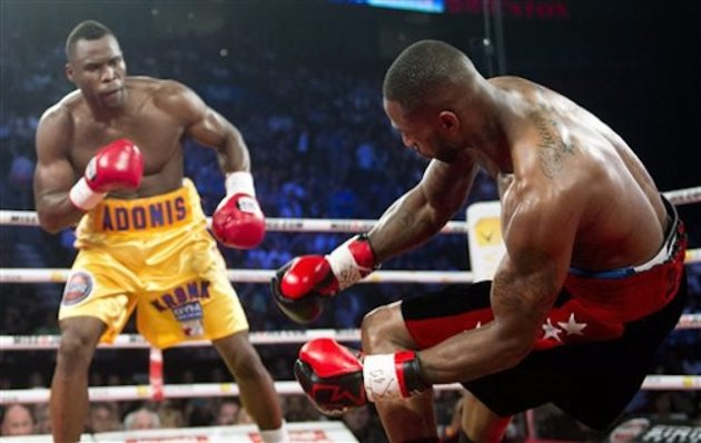 Adonis Stevenson's thunderous left hand made it a short night for Chad Dawson. (AP Photo)
