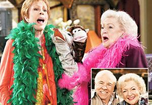 Carol Burnett and Betty White, insert Tim Conway and Betty White | Photo Credits: TV Land