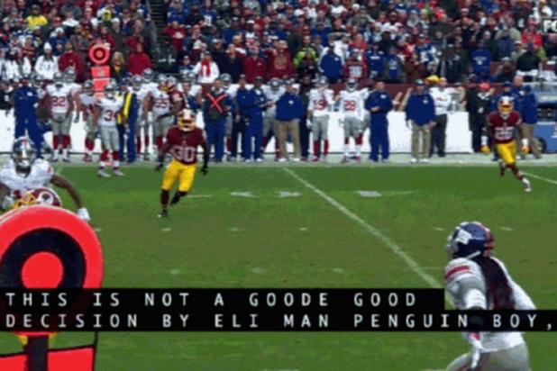 Eli Manning Is 'Penguin Boy' in Hilarious Closed Caption Fail
