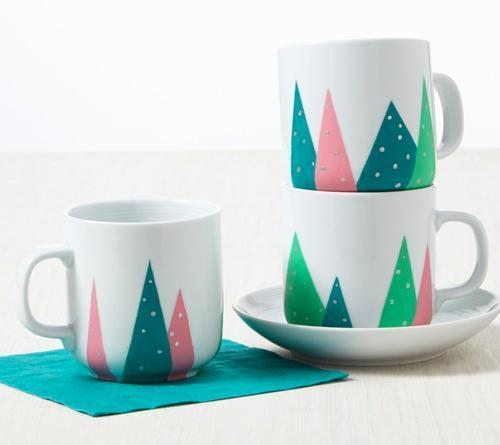 Festive Christmas Tree Mugs
