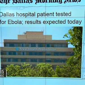 """Headlines at 7:30: Texas patient in """"strict isolation"""" after showing signs of Ebola"""