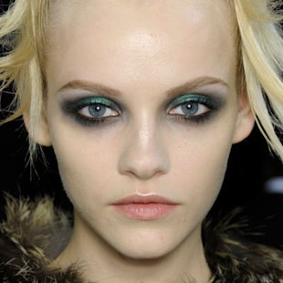 John Galliano: Backstage: A/W12: Kohl Eyes: Beauty Trend