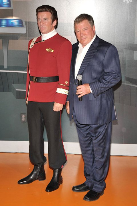 William Shatner attends the unveiling of a Captain Kirk wax figure at Madame Tussaud's Wax Museum on November 4, 2009 in Los Angeles, California. 