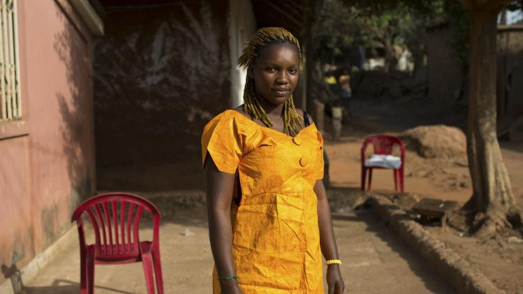 Nhama Mane poses for a picture in the Mistra district of Bissau