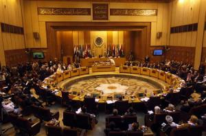 General view of Arab League foreign ministers meeting in Cairo