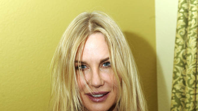 Actress Daryl Hannah is seen at the Fender Music lodge during the Sundance Film Festival on Sunday, Jan. 20, 2013, in Park City, Utah. (Photo by Jack Dempsey/Invision for Fender/AP Images)