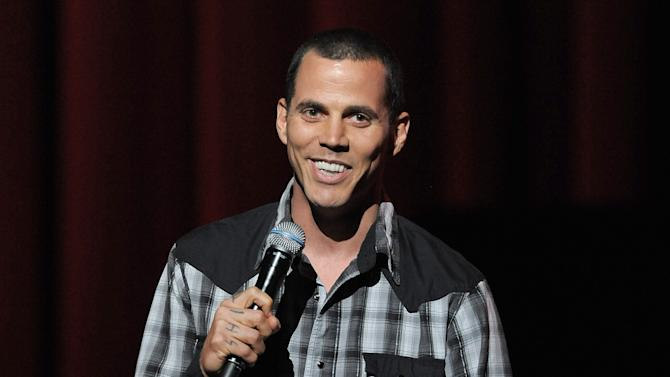 FILE - In this May 31, 2012 file photo, Steve-O hosts at the eighth annual MusiCares MAP Fund Benefit Concert in Los Angeles. Steve-O was sentenced to 30 days in jail on Wednesday, Oct. 7, 2015, after pleading no contest to trespassing and a fireworks violation for an August protest he staged against Sea World atop a Hollywood crane. (Photo by Jordan Strauss/Invision/AP, File)