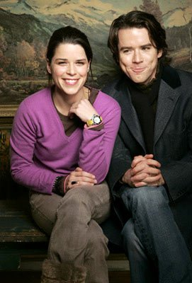 Neve Campbell and Christian Campbell