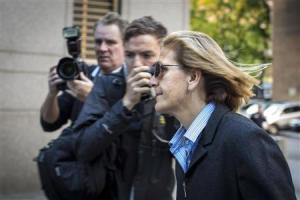 Crupi, who managed clients' investment accounts for Bernard L. Madoff Investment Securities LLC, arrives at the Manhattan Federal Court house in New York