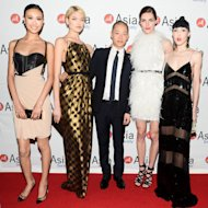 Shu Pei, Martha Hunt, Jason Wu, Hilary Rhoda and Michelle H
