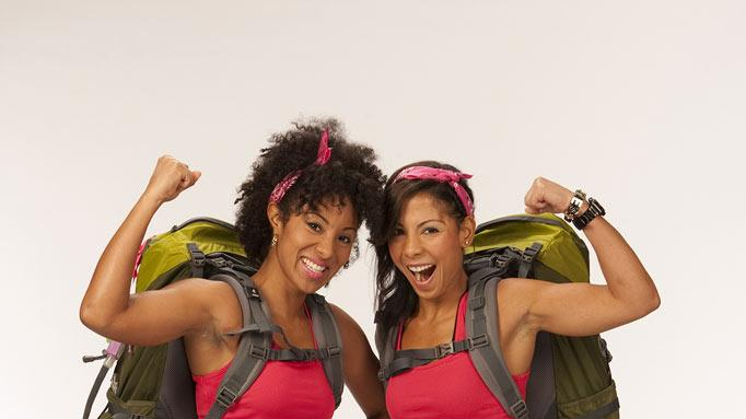 "Cousins Kerri Paul and Stacy Bowers compete in the 20th season of ""The Amazing Race."""
