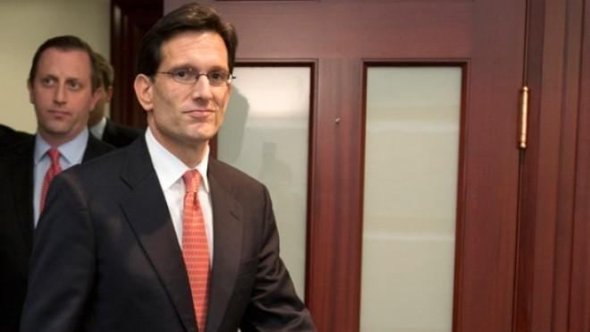 "House Majority Leader Eric Cantor was one of 151 House Republicans to vote ""no"" on the fiscal cliff deal."