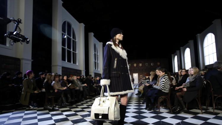 Weather's silver lining: coat comfort on runways