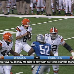 Cleveland Browns quarterback Brian Hoyer perfect in practice