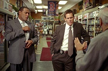 Laurence Fishburne and Kevin Bacon in Warner Bros. Mystic River