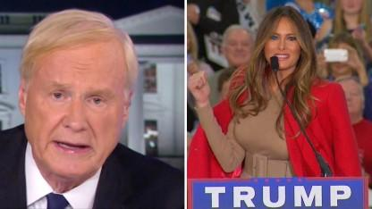 MSNBC's Chris Matthews Under Fire After He's Caught Ogling Melania on Open Mic