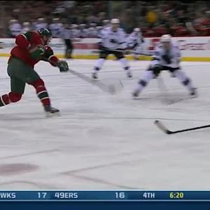 Mikko Koivu goes top-shelf on Antti Niemi