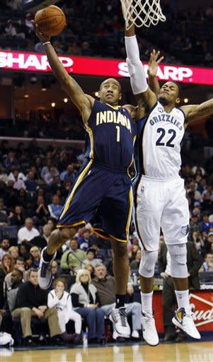Grizzlies upend Pacers 98-92