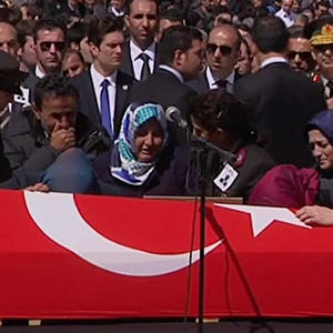 Raw: Funeral for Turkey Hostage Crisis Victim