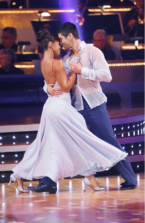 "Mya and Dmitry Chaplin perform the Viennese Waltz to ""Vision of Love"" by Mariah Carey on ""Dancing with the Stars."""