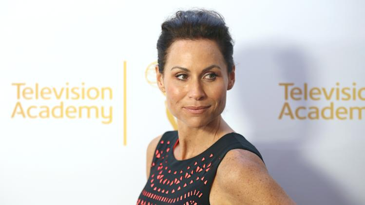 Minnie Driver arrives at the Television Academy's 66th Emmy Awards Performers Peer Group Celebration at the Montage Beverly Hills on Monday, July 28, 2014, in Beverly Hills, Calif. (Photo by Matt Sayles/Invision for the Television Academy/AP Images)