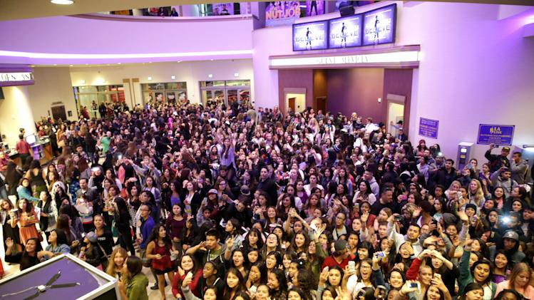 "A general view of atmosphere at the World Premiere of Open Road's ""Justin Bieber's Believe"" presented by Teen Vogue and sponsored by Clearasil, on Wednesday, Dec. 18, 2013 in Los Angeles. (Photo by Eric Charbonneau/Invision for Open Road Films/AP Images)"