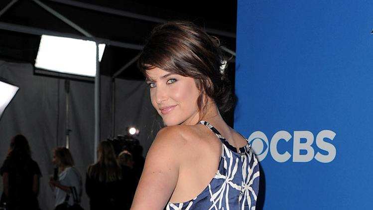 "Cobie Smulders of ""How I Met Your Mother"" arrives at the CBS Fall Season Premiere party at The Colony on September 16, 2010, in Los Angeles."