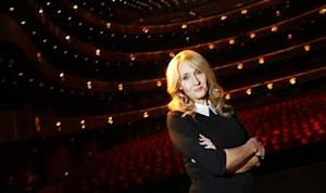 "Author Rowling poses for a portrait while publicizing her adult fiction book ""The Casual Vacancy"" in New York"