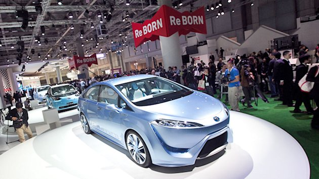 Highlights from Toyota include the FCV-R concept, a hydrogen-powered car with a 435 mile range.