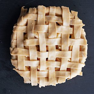 For juicy pies, a lattice top works best because it allows steam to escape during baking.