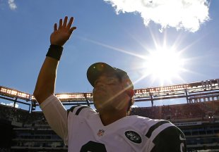 It was a sunny day for Mark Sanchez who dominated the Bills after tossing an INT on the Jets&amp;#39; first drive. (Reuters) 