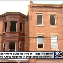 Apartment Fire Displaces 17 People In North Philadelphia