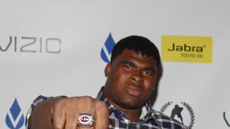 IMAGE DISTRIBUTED FOR DSA MEDIA GROUP - D.J. Fluker is seen at DSA Media Group's Official Professional Football Draft Classic Extravaganza on Tuesday, April 23, 2013 in New York City, New York. (Amy Sussman/AP Images for DSA Media Group)