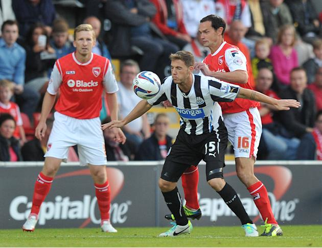 Soccer - Capital One Cup - Second Round - Morecambe v Newcastle United - Globe Arena