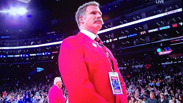 Will Ferrell Works Security at Lakers Game