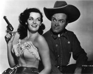 Jane Russell and Bob Hope in The Paleface