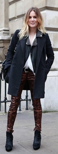 Top 13 Denim Trends For Fall 2012 Metallic Stamped