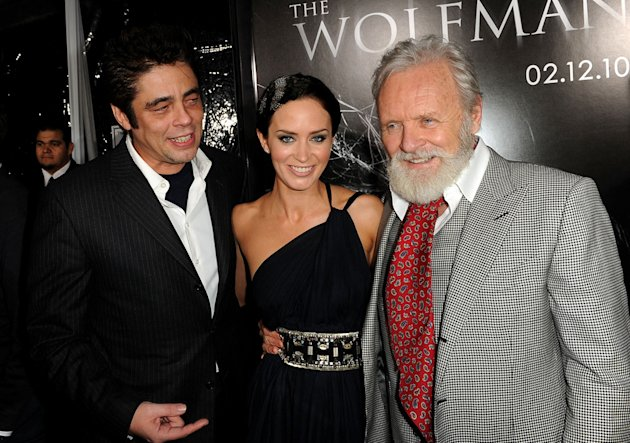 The Wolfman LA Premiere 2010 Benicio Del Toro Emily Blunt Anthony Hopkins