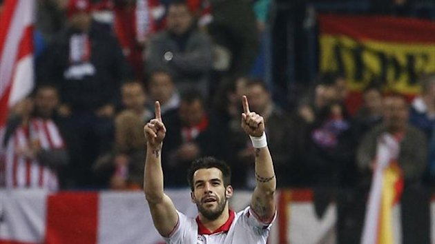 Sevilla striker Alvaro Negredo (Reuters)