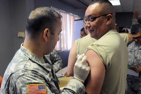U.S. Military Little Affected by Flu Epidemic